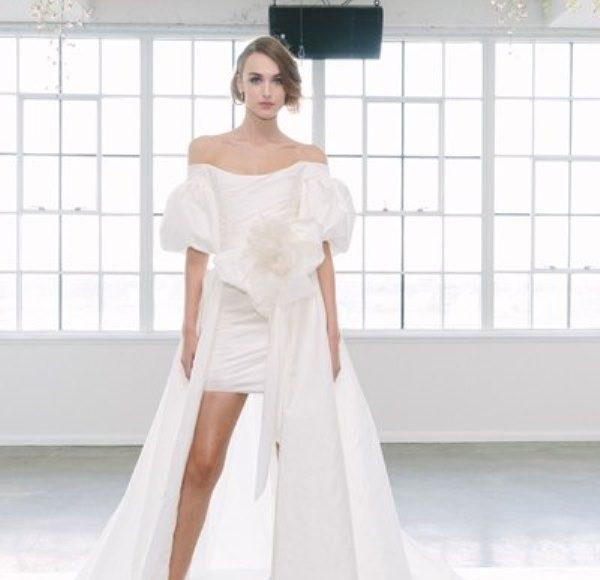 فستان عروس قصير طبقات