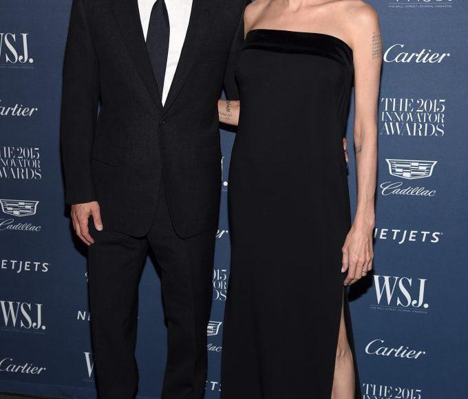 انجلينا مع براد