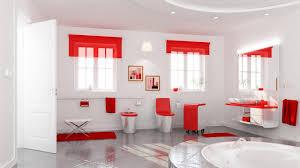 سيراميك حمامات باللون الاحمر2