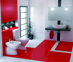 سيراميك حمامات باللون الاحمر3