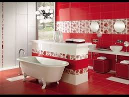 سيراميك حمامات باللون الاحمر4