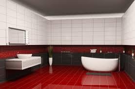 سيراميك حمامات باللون الاحمر