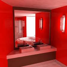 سيراميك حمامات باللون الاحمر6