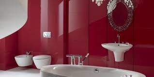 سيراميك حمامات باللون الاحمر7