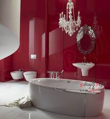 سيراميك حمامات باللون الاحمر9