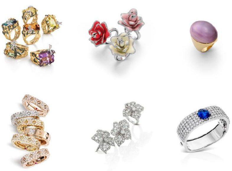 اطقم مجوهرات من داماس لعيد الحب