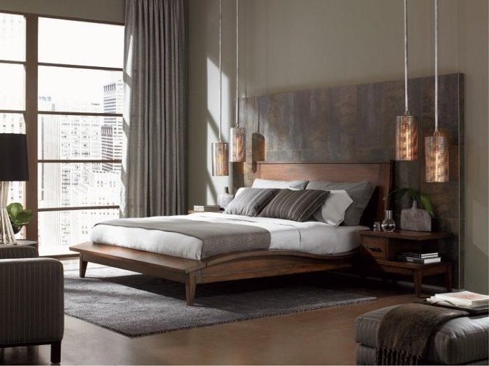 غرفة نوم خشبية