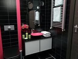 ديكورات حمامات باللون الاسود