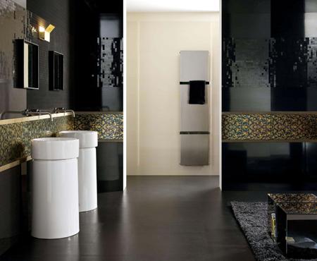 ديكورات حمامات باللون الاسود1