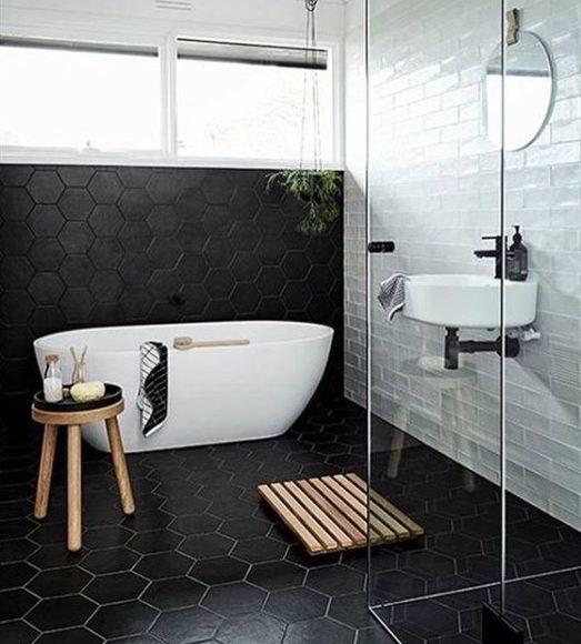 8c37cc695 ديكورات حمامات باللون الاسود | الراقية