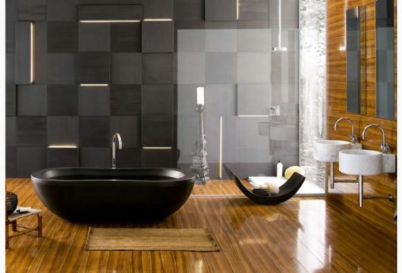 ديكورات حمامات باللون الاسود6