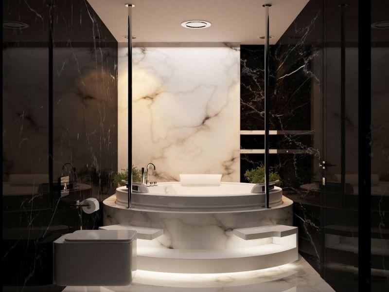 ديكورات حمامات باللون الاسود7