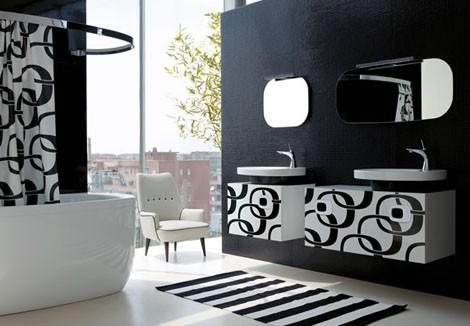 ديكورات حمامات باللون الاسود9