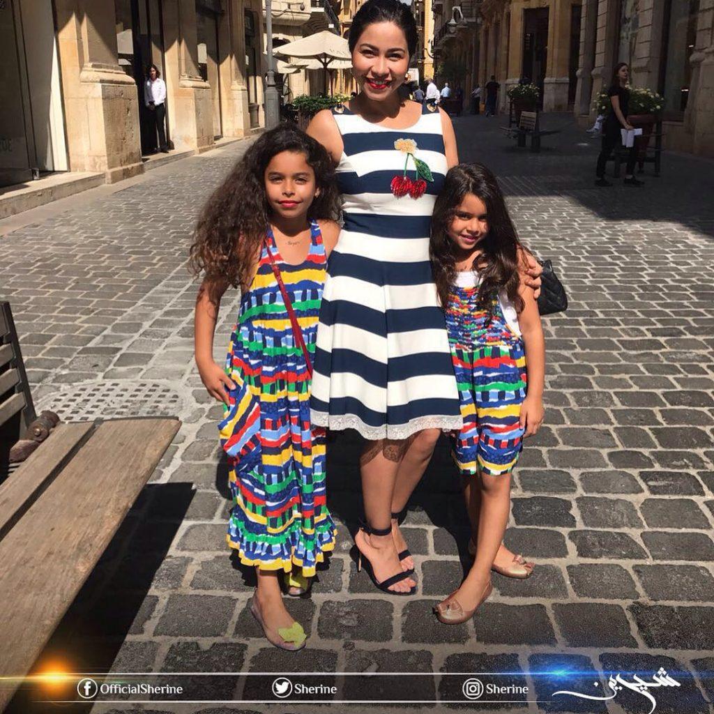 شيرين-مع-ابنتيها-في-بيروت