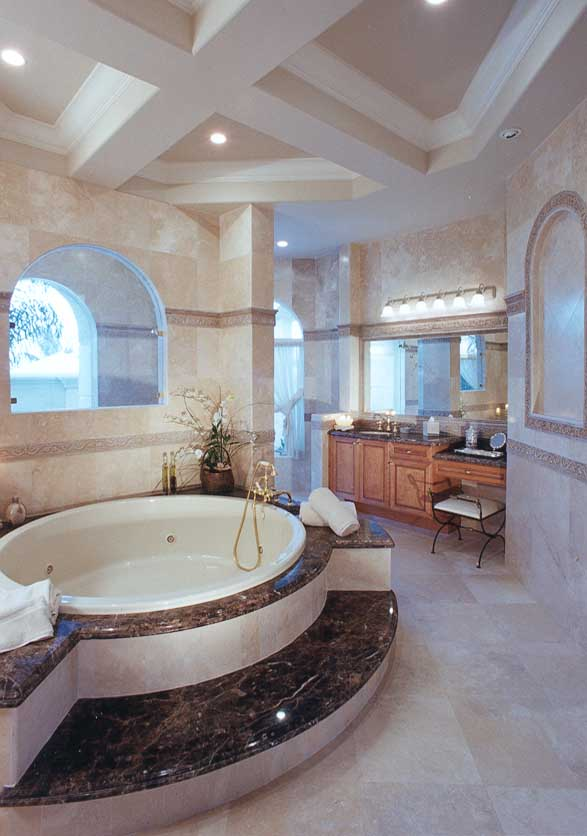 صور ديكورات حمامات من رخام2