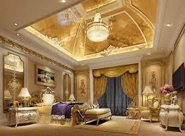 غرف نوم كلاسيك باللون الذهبي8
