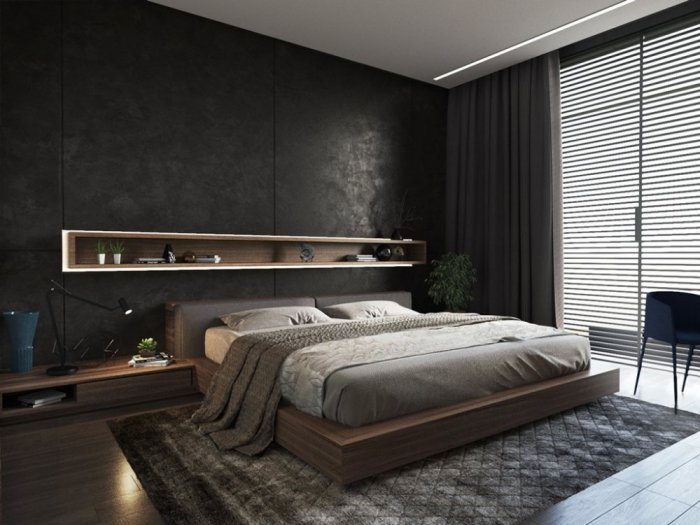 غرفة نوم داكنة