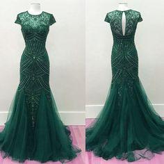 فستان-سهرة-أخضر