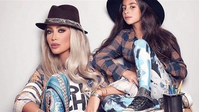مايا مع ابنتها كاي