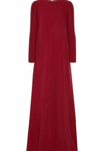 فستان سهرة احمر غامق
