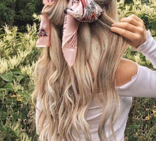 الفيونكة مع الشعر الطويل