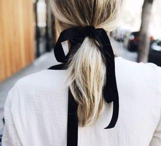 الفيونكة مع الشعر المتوسط