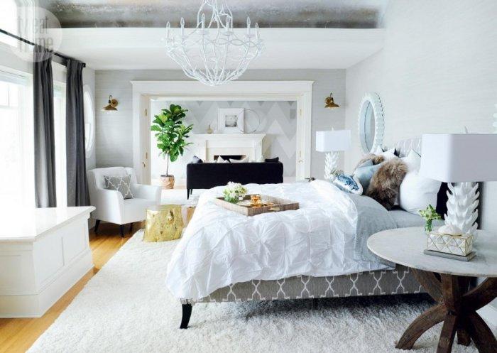 ديكور غرفة نوم أبيض