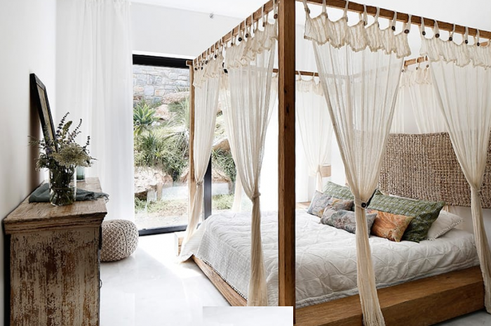 سرير بستائر لغرفة النوم