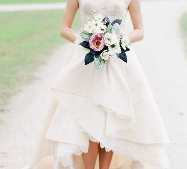 فستان عروس ذيل طويل