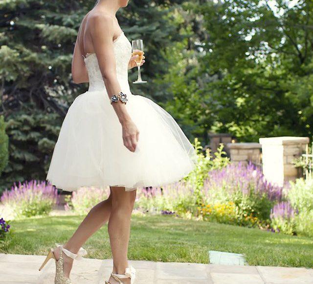 موديل فستان عروس قصير