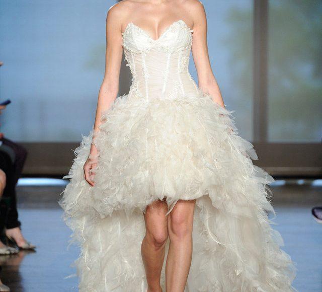 فستان عروس متدرج الطول