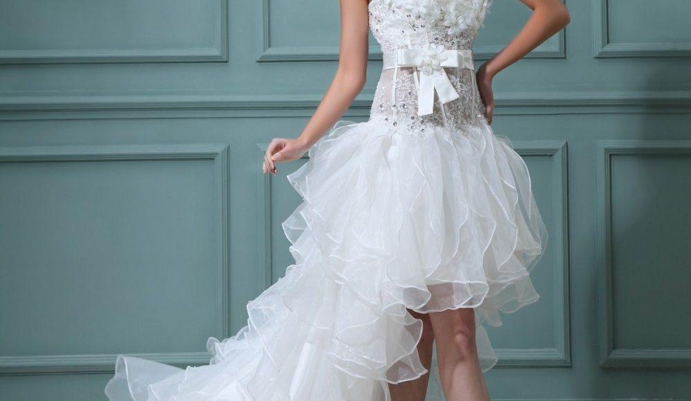 فستان متدرج الطول