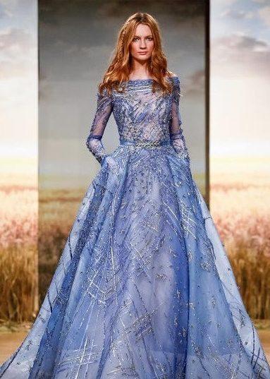 فستان-ازرق-من-ziad-nakad