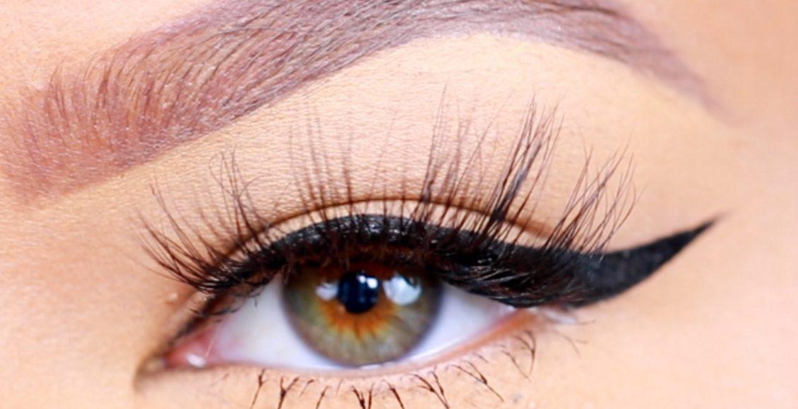 طريقة رسم العيون المبطنة