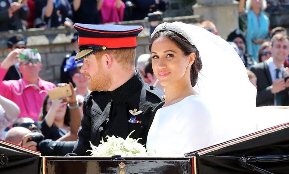 مع الامير هاري في حفل الزفاف الملكي