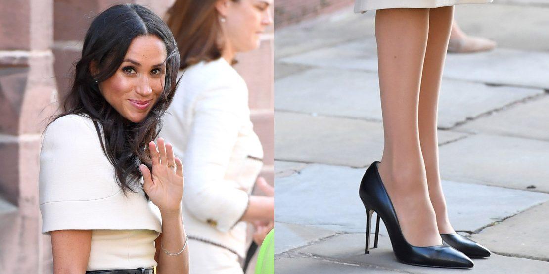حذاء ميغان اكبر من قدميها