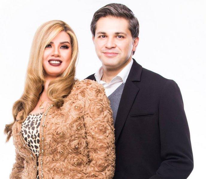 رانيا فريد شوقي مع زوجها تامر الصراف