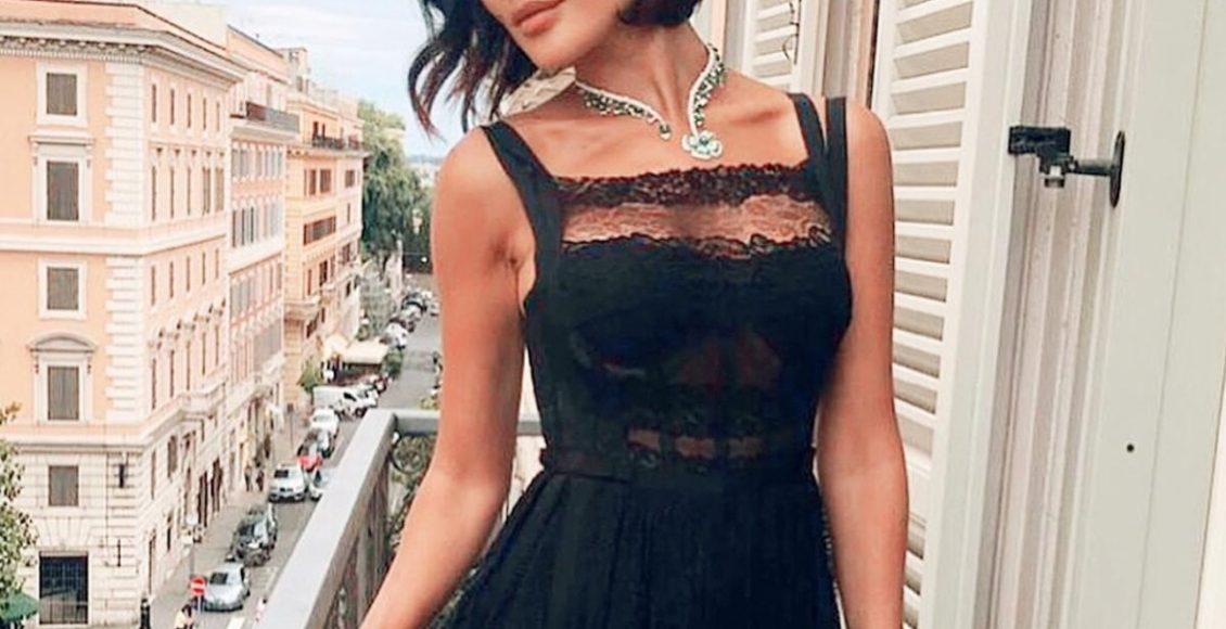 نادين بفستان من زهير مراد