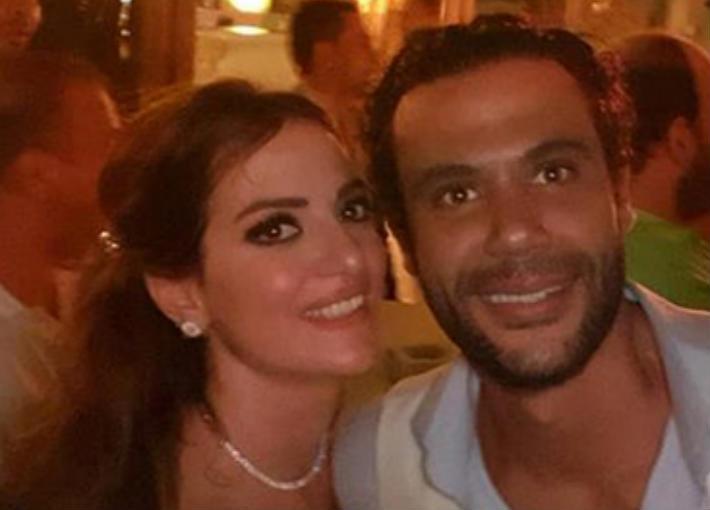 دينا-الشربيني-وعمرو-دياب-في-حفل-زفاف-محمد-إمام
