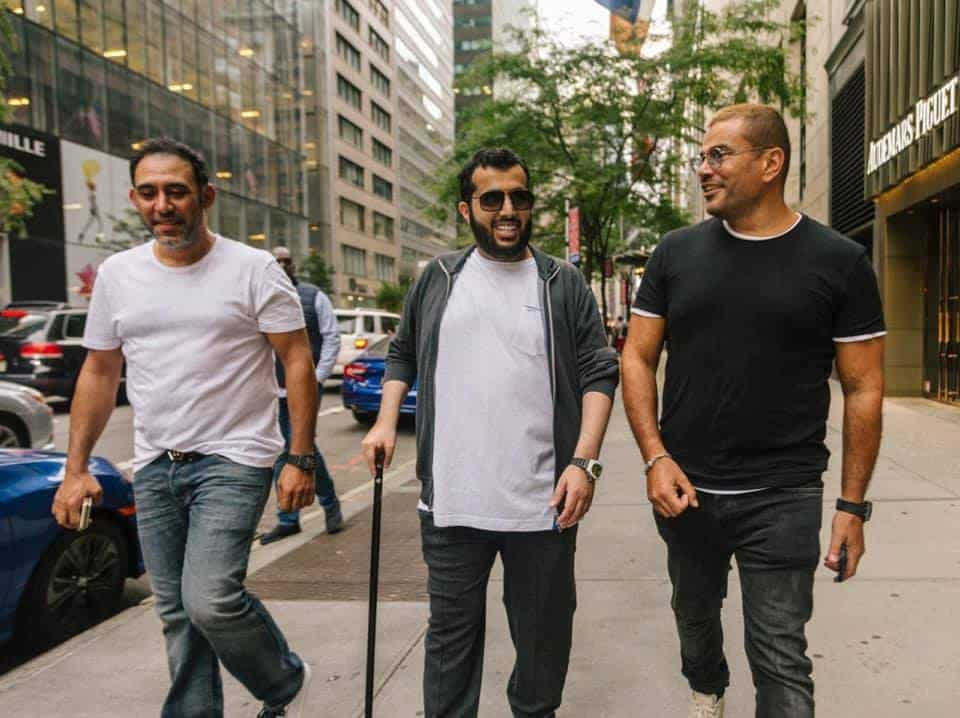 صور تركي آل شيخ وعمرو دياب في نيويورك