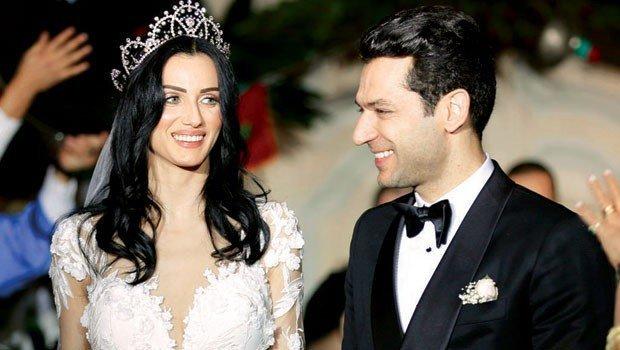 مراد يلدريم يحتفل بعيد ميلاد زوجته إيمان الباني