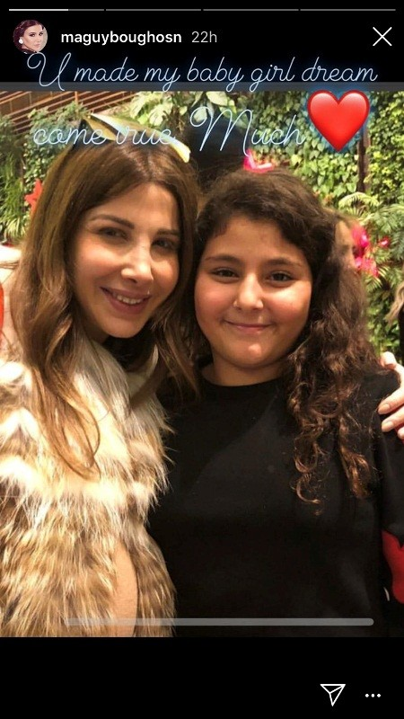 نانسي عجرم مع ابنة ماغي بوغصن