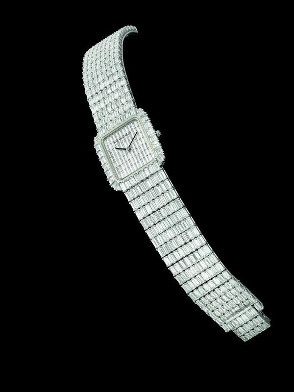 AUDEMARS PIGUET - A platinum and diamond-set bracelet watch n. 1 circa 1990 Est. $150,000-250,000 (2)