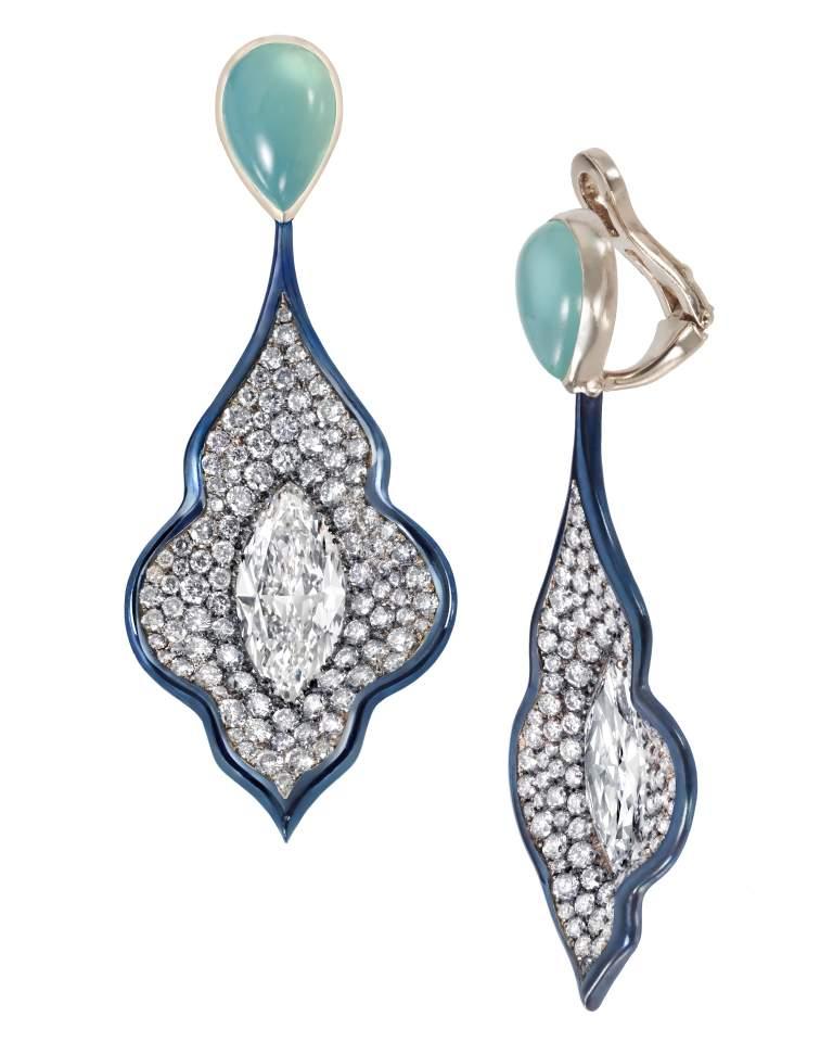 Blue Opal Principessa Earrings