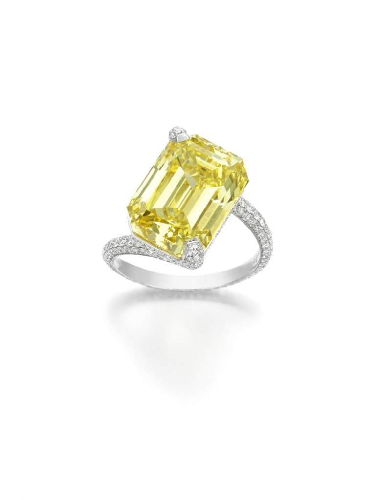 Yellow Twist Ring