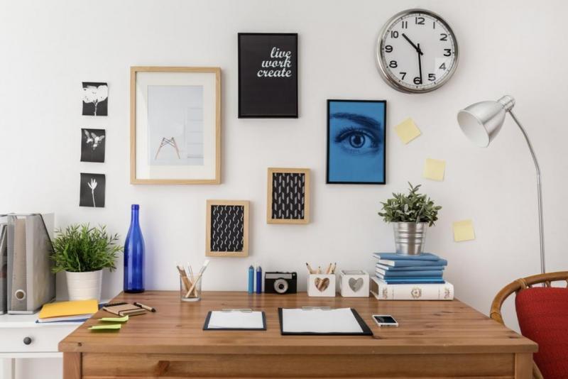 نصائح وأفكار لترتيب ديكور مكتبك في المنزل