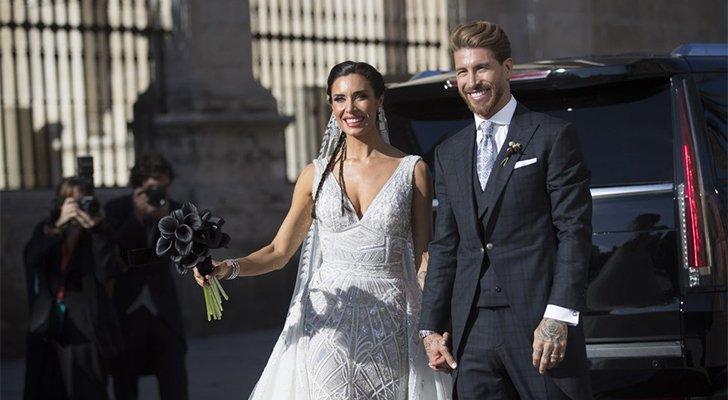 عروس سيرجيو راموس اختارت فستان زفاف لمصمم عربي