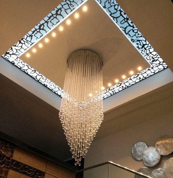 سقف جبس مع اضاءه