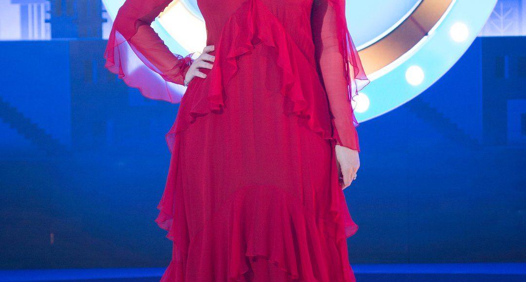 اطلالة رؤى الصبان في فستان من Alberta Ferretti