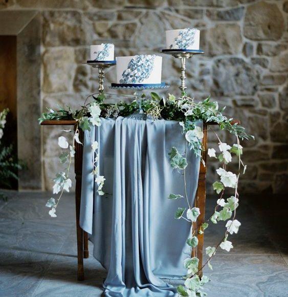 ثيم زفاف ازرق